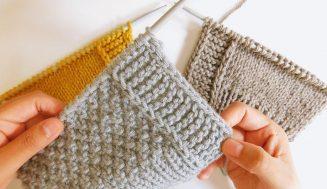 Aprender a tejer a dos agujas